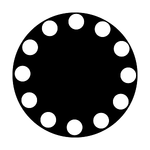 Dots In Circle Medium