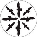 Circling Birds Silhouette 1