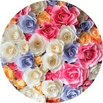 Bright Colors Rose Bouquet
